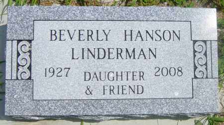 HANSON LINDERMAN, BEVERLY H - Lincoln County, South Dakota | BEVERLY H HANSON LINDERMAN - South Dakota Gravestone Photos