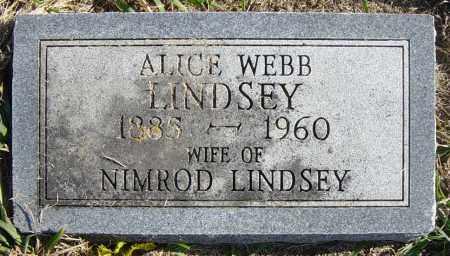 LINDSEY, ALICE - Lincoln County, South Dakota | ALICE LINDSEY - South Dakota Gravestone Photos