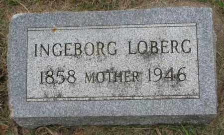 LOBERG, INGEBORG - Lincoln County, South Dakota | INGEBORG LOBERG - South Dakota Gravestone Photos