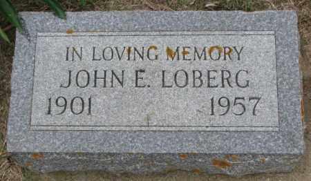 LOBERG, JOHN E. - Lincoln County, South Dakota | JOHN E. LOBERG - South Dakota Gravestone Photos