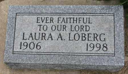 LOBERG, LAURA A. - Lincoln County, South Dakota | LAURA A. LOBERG - South Dakota Gravestone Photos