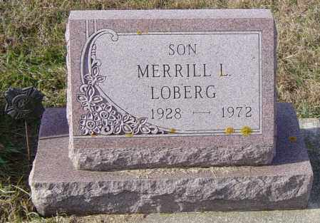 LOBERG, MERRILL L - Lincoln County, South Dakota | MERRILL L LOBERG - South Dakota Gravestone Photos