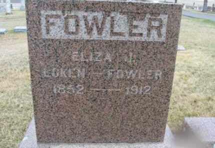 MILLER LOKEN-FOWLER, ELIZA J. - Lincoln County, South Dakota | ELIZA J. MILLER LOKEN-FOWLER - South Dakota Gravestone Photos