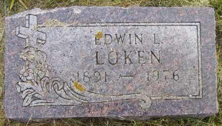 LOKEN, EDWIN L - Lincoln County, South Dakota | EDWIN L LOKEN - South Dakota Gravestone Photos