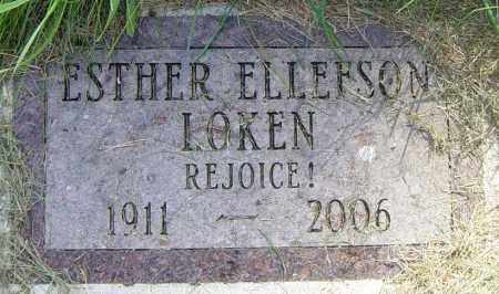 LOKEN, ESTHER - Lincoln County, South Dakota | ESTHER LOKEN - South Dakota Gravestone Photos