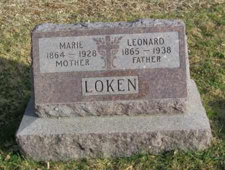 LOKEN, MARIE - Lincoln County, South Dakota | MARIE LOKEN - South Dakota Gravestone Photos