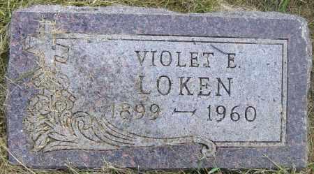 LOKEN, VIOLET E - Lincoln County, South Dakota | VIOLET E LOKEN - South Dakota Gravestone Photos