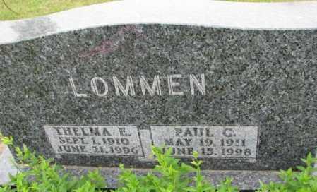 LOMMEN, THELMA E. - Lincoln County, South Dakota | THELMA E. LOMMEN - South Dakota Gravestone Photos