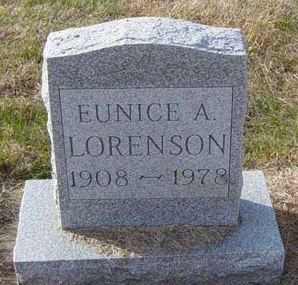 LORENSON, EUNICE A - Lincoln County, South Dakota | EUNICE A LORENSON - South Dakota Gravestone Photos