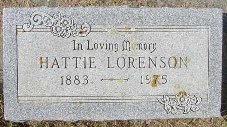 LORENSON, HATTIE - Lincoln County, South Dakota | HATTIE LORENSON - South Dakota Gravestone Photos