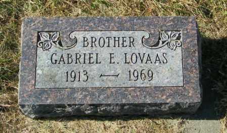 LOVAAS, GABRIEL E - Lincoln County, South Dakota | GABRIEL E LOVAAS - South Dakota Gravestone Photos