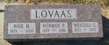 LOVAAS, WENDELL G. - Lincoln County, South Dakota | WENDELL G. LOVAAS - South Dakota Gravestone Photos