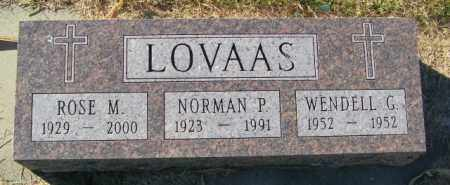 LOVAAS, NORMAN PALMER - Lincoln County, South Dakota | NORMAN PALMER LOVAAS - South Dakota Gravestone Photos
