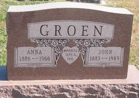 GROEN, ANNA - Lincoln County, South Dakota   ANNA GROEN - South Dakota Gravestone Photos