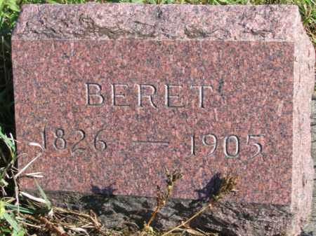 LUKKEN, BERET - Lincoln County, South Dakota | BERET LUKKEN - South Dakota Gravestone Photos