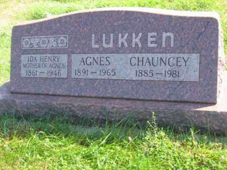 LUKKEN, AGNES SARAH - Lincoln County, South Dakota   AGNES SARAH LUKKEN - South Dakota Gravestone Photos