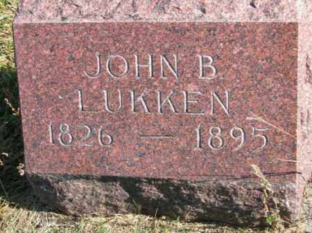 LUKKEN, JOHN B - Lincoln County, South Dakota | JOHN B LUKKEN - South Dakota Gravestone Photos
