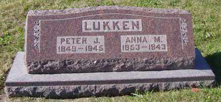 LUKKEN, PETER J - Lincoln County, South Dakota | PETER J LUKKEN - South Dakota Gravestone Photos