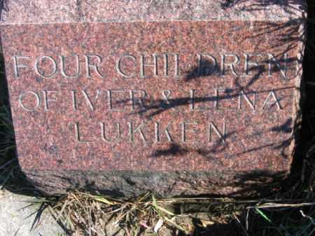LUKKEN, TWIN BABIES - Lincoln County, South Dakota   TWIN BABIES LUKKEN - South Dakota Gravestone Photos