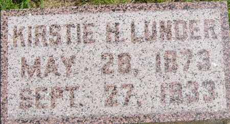 LUNDER, KIRSTIE H - Lincoln County, South Dakota | KIRSTIE H LUNDER - South Dakota Gravestone Photos