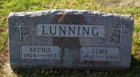 LUNNING, ARCHIE - Lincoln County, South Dakota | ARCHIE LUNNING - South Dakota Gravestone Photos