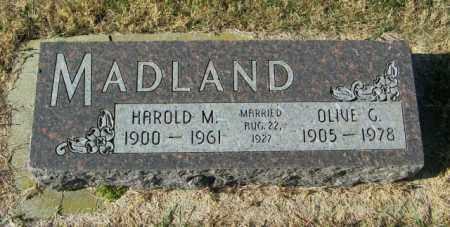 MADLAND, OLIVE G - Lincoln County, South Dakota   OLIVE G MADLAND - South Dakota Gravestone Photos