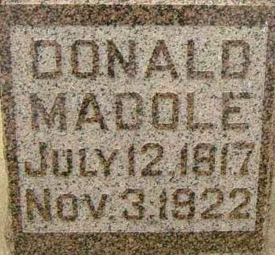 MADOLE, DONALD - Lincoln County, South Dakota   DONALD MADOLE - South Dakota Gravestone Photos