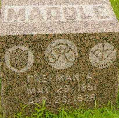 MADOLE, FREEMAN A - Lincoln County, South Dakota | FREEMAN A MADOLE - South Dakota Gravestone Photos