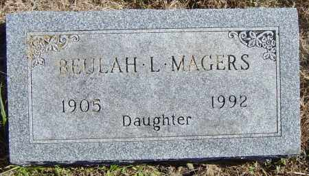 MAGERS, BEULAH L - Lincoln County, South Dakota | BEULAH L MAGERS - South Dakota Gravestone Photos