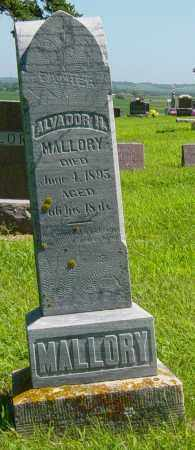 MALLORY, ALVADOR H - Lincoln County, South Dakota | ALVADOR H MALLORY - South Dakota Gravestone Photos