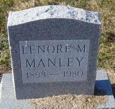 MANLEY, LENORE M - Lincoln County, South Dakota | LENORE M MANLEY - South Dakota Gravestone Photos