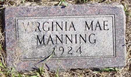 MANNING, VIRGINIA MAE - Lincoln County, South Dakota | VIRGINIA MAE MANNING - South Dakota Gravestone Photos