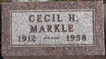 MARKLE, CECIL H. - Lincoln County, South Dakota | CECIL H. MARKLE - South Dakota Gravestone Photos