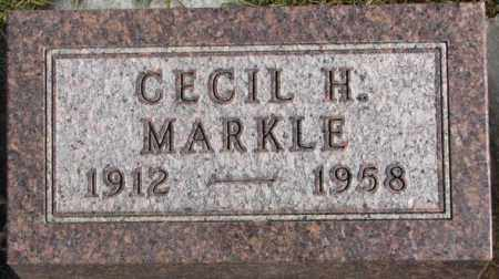 MARKLE, CECIL H. - Lincoln County, South Dakota | CECIL H. MARKLE - South Dakota Gravestone Photos