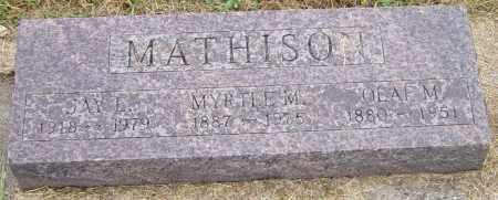MATHISON, OLAF M - Lincoln County, South Dakota | OLAF M MATHISON - South Dakota Gravestone Photos
