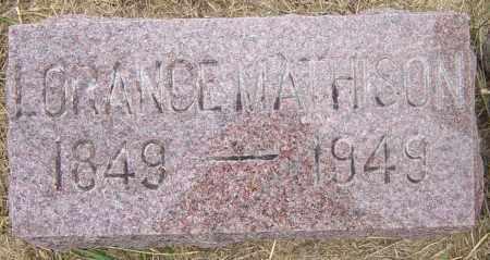 MATHISON, LORANCE - Lincoln County, South Dakota   LORANCE MATHISON - South Dakota Gravestone Photos
