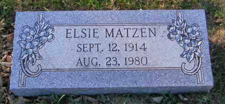 MATZEN, ELSIE - Lincoln County, South Dakota | ELSIE MATZEN - South Dakota Gravestone Photos