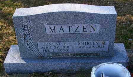 MATZEN, ERNEST H. - Lincoln County, South Dakota | ERNEST H. MATZEN - South Dakota Gravestone Photos