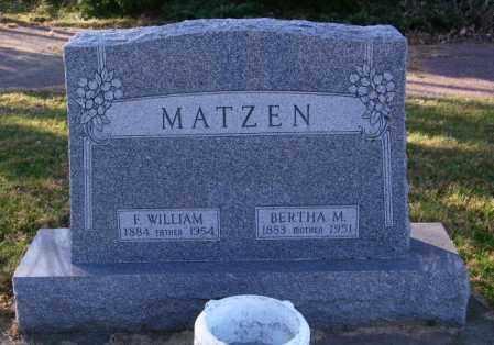 MATZEN, F. WILLIAM - Lincoln County, South Dakota   F. WILLIAM MATZEN - South Dakota Gravestone Photos