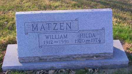 MATZEN, HILDA - Lincoln County, South Dakota   HILDA MATZEN - South Dakota Gravestone Photos