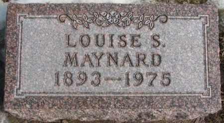 MAYNARD, LOUISE S. - Lincoln County, South Dakota | LOUISE S. MAYNARD - South Dakota Gravestone Photos
