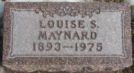 MAYNARD, LOUISE S. - Lincoln County, South Dakota | LOUISE S. MAYNARD - South Dakota Gravestone Photos