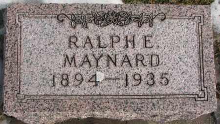 MAYNARD, RALPH E. - Lincoln County, South Dakota   RALPH E. MAYNARD - South Dakota Gravestone Photos