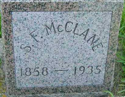 MCCLANE, S F - Lincoln County, South Dakota | S F MCCLANE - South Dakota Gravestone Photos