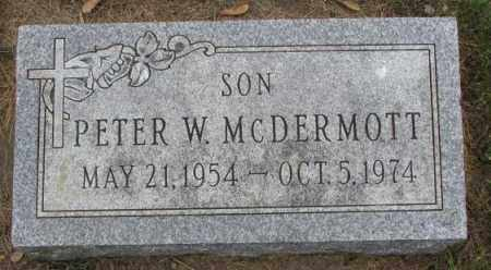 MCDERMOTT, PETER W. - Lincoln County, South Dakota | PETER W. MCDERMOTT - South Dakota Gravestone Photos