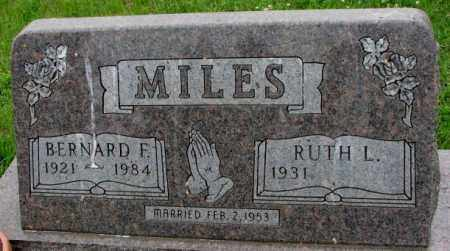 MILES, BERNARD F. - Lincoln County, South Dakota | BERNARD F. MILES - South Dakota Gravestone Photos
