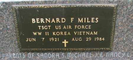 MILES, BERNARD (MILITARY) - Lincoln County, South Dakota | BERNARD (MILITARY) MILES - South Dakota Gravestone Photos