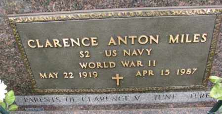 MILES, CLARENCE ANTON (WW II) - Lincoln County, South Dakota | CLARENCE ANTON (WW II) MILES - South Dakota Gravestone Photos