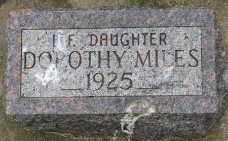 MILES, DOROTHY - Lincoln County, South Dakota | DOROTHY MILES - South Dakota Gravestone Photos