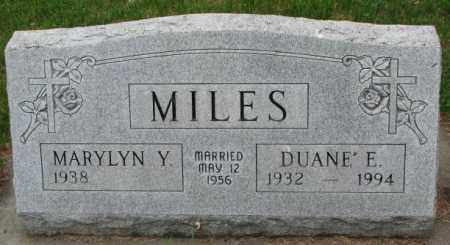 MILES, DUANE E. - Lincoln County, South Dakota | DUANE E. MILES - South Dakota Gravestone Photos